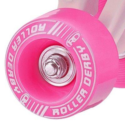 Roller Derby Girls' Roller Star 350 Quad Skates - White/Pink 3, Variation Parent