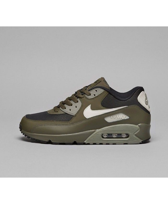 best sneakers 88d90 7088f Nike Air Max 90 Essential Chaussures Kaki Noir