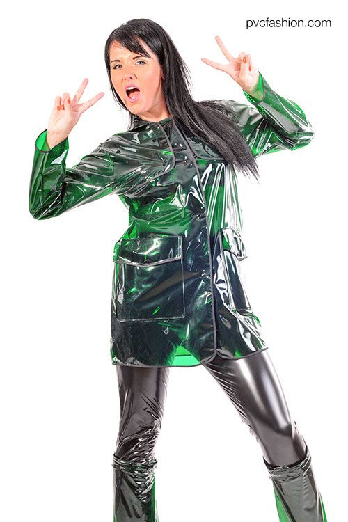 Festival Pvc Jacket Now In The New Color Glass Clear Green