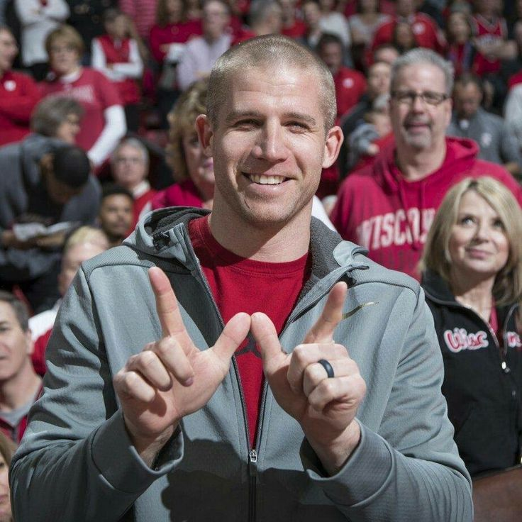 Jordy at the uw badger basketball game! ❤️