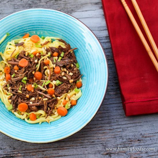 This slow cooker asian beef recipe is so easy to throw together and the house will smell amazing all day long - the family will love it for dinner.