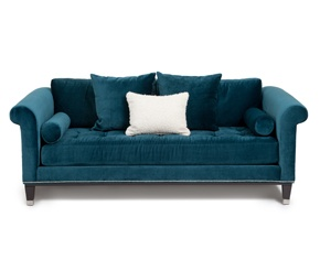 Jonathan Louis Turner Peacock Sofa in aquamarine velvet.  sc 1 st  Pinterest : jonathan louis bennett chaise - Sectionals, Sofas & Couches