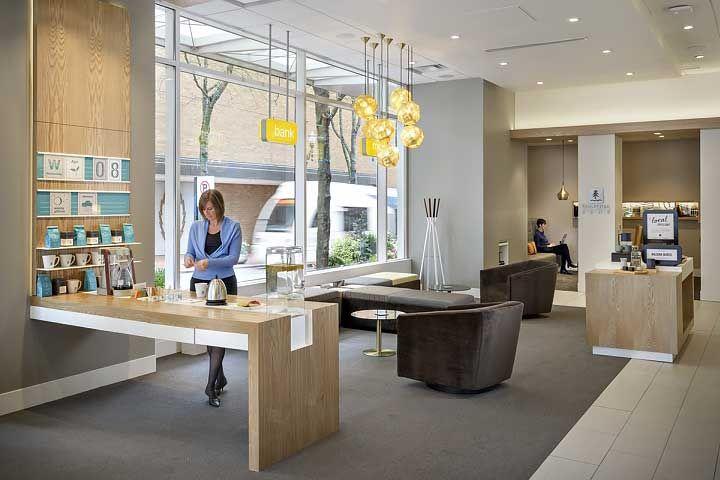 14 More Breakthrough Branch Designs From Banks Credit Unions Bank Interior Design Bank Design Branch Design