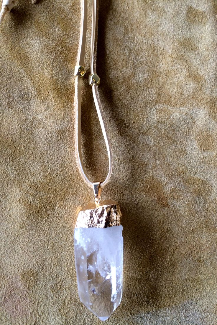 Healing Quartz Crystal Necklace With Charms