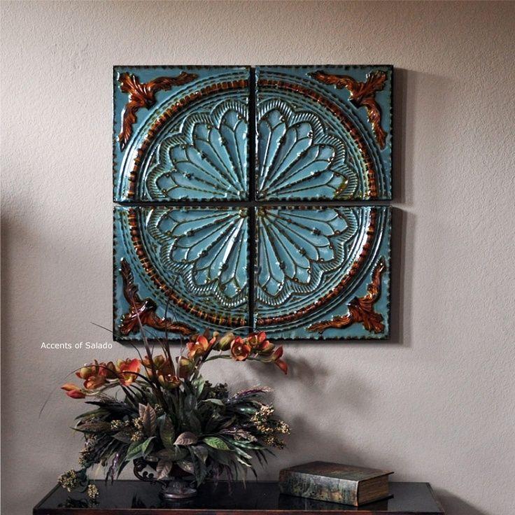 meditaranian interiors | Mediterranean Blue Wall Decor | Tuscan / Mediterranean Decor