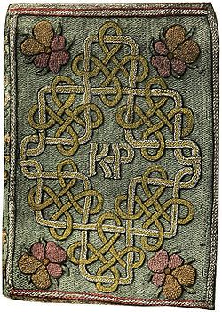 An embroidered book stitched by Princess Elizabeth Tudor (future Elizabeth I) for her stepmother, Katherine Parr
