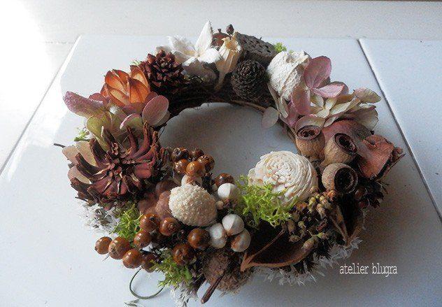 八ヶ岳〜(定形外郵便)静かな森の木の実MiniWreath06 - アトリエ ブルグラ