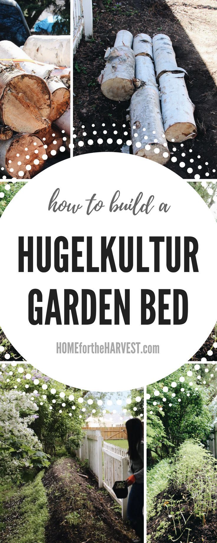 This tutorial (+free printable) will teach you exactly how to create a hugelkultur raised garden bed in your backyard! Hugelkultur beds are the perfect way to recycle unused wood to create an in-place composting system which also grows healthy plants. It'