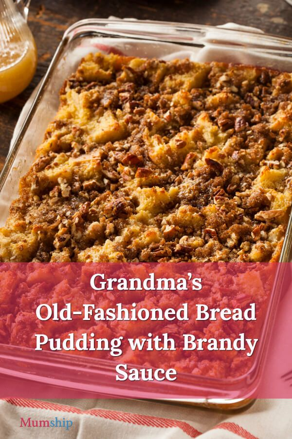 Omas altmodischer #BreadPudding mit Brandy Sauce – #momship #bread #homema …   – Homemade Bread and Pastries