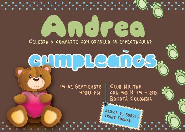 Oso de Cumpleaños http://comprasonline.zetta.com/product/invitacin-oso-de-cumpleaos-14-x-10-cm