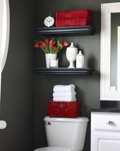 Las 25 mejores ideas sobre decoraci n cuarto de ba o rojo for Decoracion para banos chicos