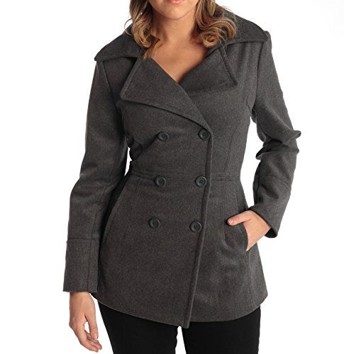 Alpine Swiss Emma Womens Gray Wool 34 Length Double Breasted Peacoat XL -- Continue to the product at the image link.