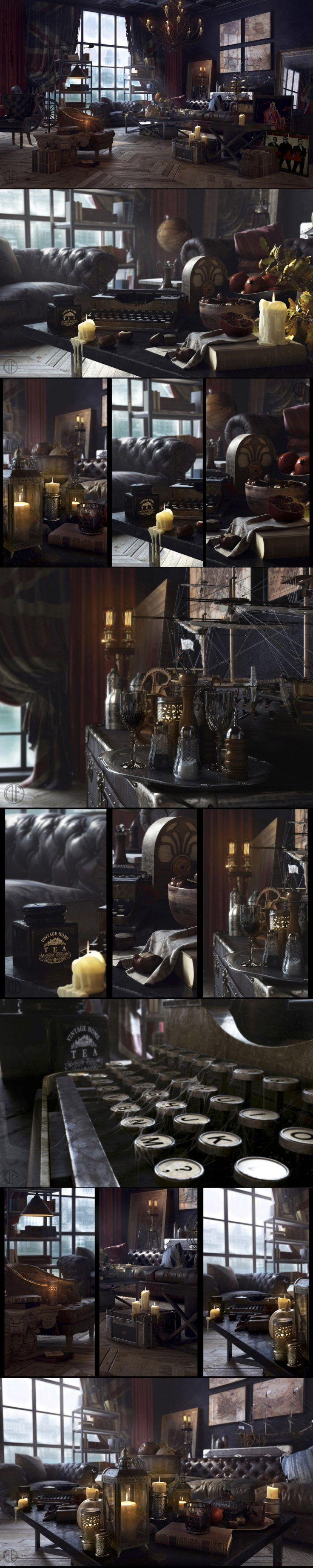 English interior by Denis Fomin 1000px X 4996px