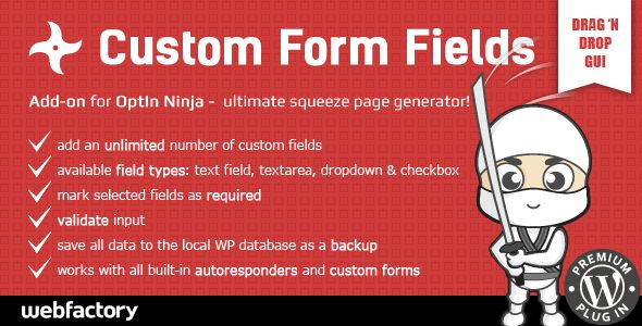 Custom Form Fields add-on for OptIn Ninja