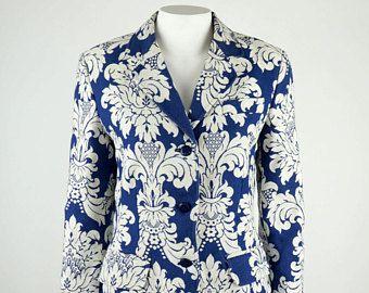 Moschino Jeans vintage jacquard jacket baroque print -    Edit Listing  - Etsy