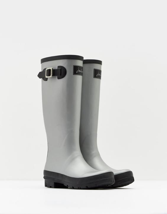 Matt Silver Rain Boots | Joules US