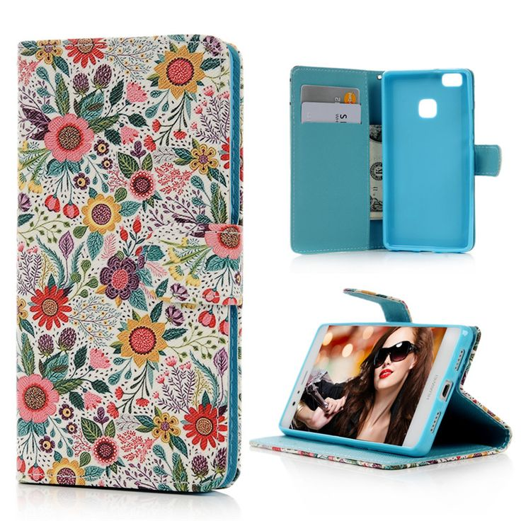 Cheap flip cover, Buy Quality leather wallet case directly from China case for huawei p9 Suppliers: For Huawei P9 Lite Cute Cases Cover Flip Stand PU Leather Wallet Card Case Color Flower Elephant Paint For Huawei P9Lite Capa