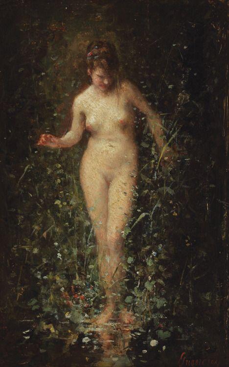 art-is-art-is-art:  Entering the Bath, Nicolae Grigorescu - #Art #LoveArt http://wp.me/p6qjkV-cL4