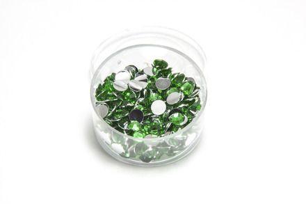 strass à coller vert émeraude 4 mm  : Cabochons, demi-perles par l-electron-libre sur ALittleMercerie