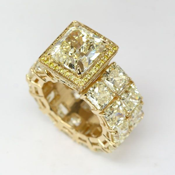 Fancy Yellow Diamond Ring from Oliver Smith Jeweler.