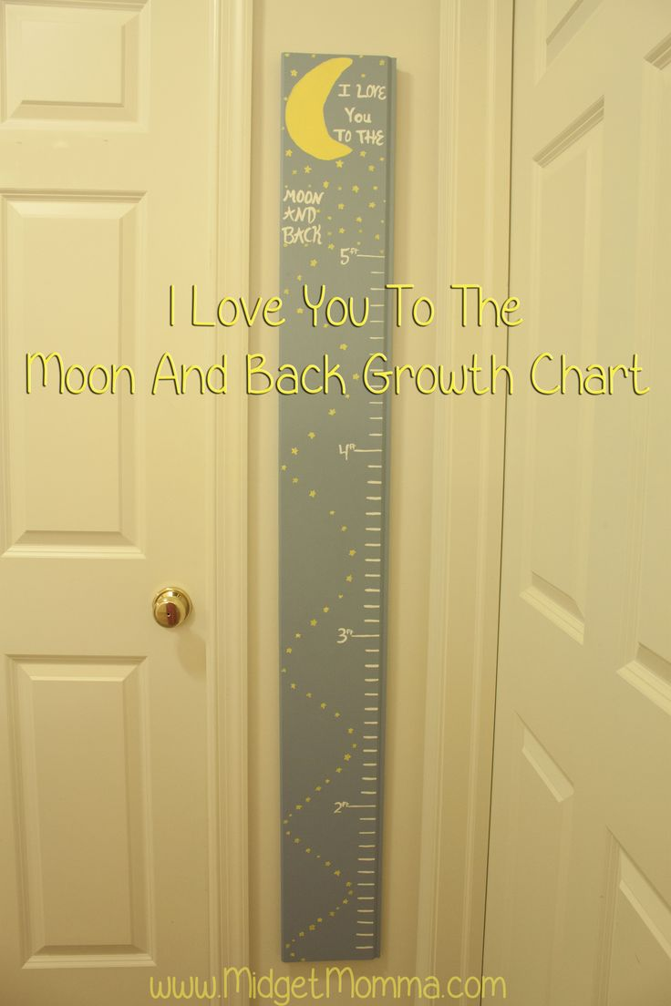 I Love You To The Moon An Back Growth Chart