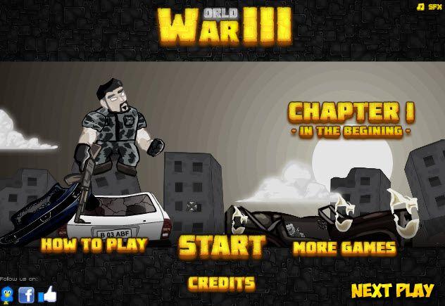 3. Dünya Savaşı oyununda tüm dünyadaki görevlerinizi en iyi seviyede tamamlayarak oyunu bitirebilirsiniz. Görevleri tamamladıkça yeni silahlara sahip olabileceğiniz oyunda el bombası, kaleşnikov tüfek gibi silahlar kullanabilirsiniz. http://www.3doyuncu.com/3-dunya-savasi/