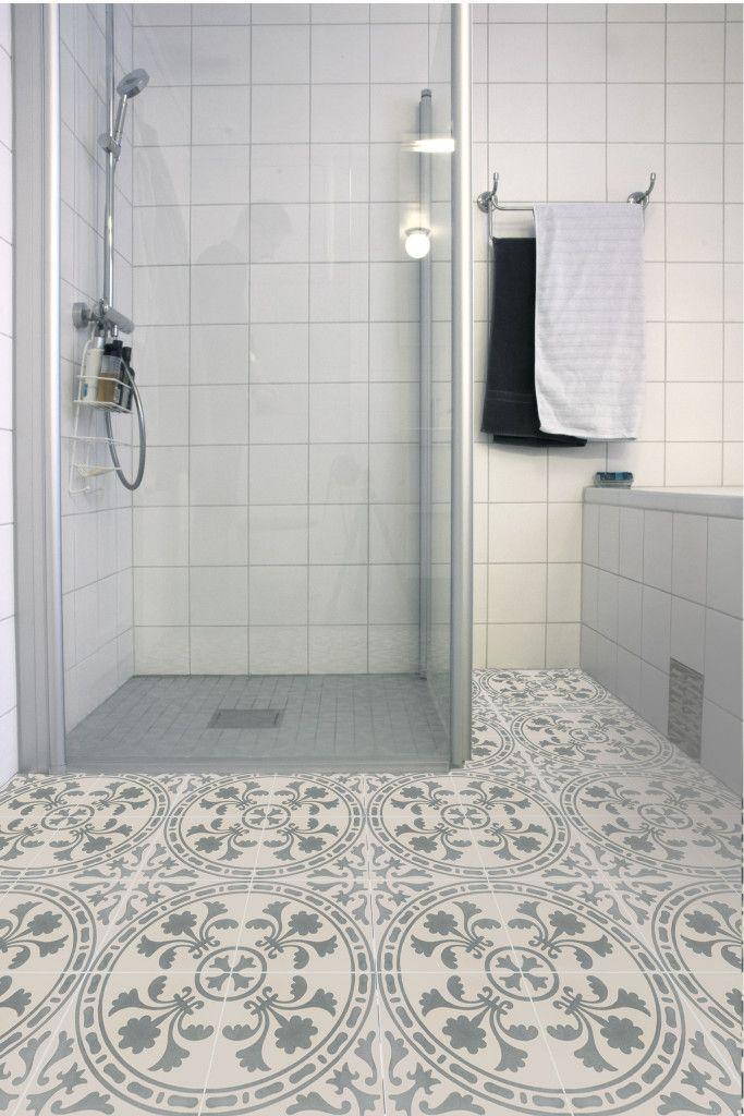 Sementtilaatta sopii my?s kylpyhuoneeseen / Cement tile works for the ...