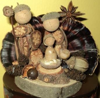 Preseio feito com secos em base de troncos e com algumas sementes perfumadas como anis estrelado.