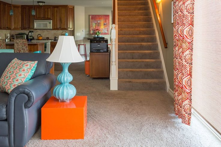 Unique pops of color will certainly draw attention within your space! Here are some bold colors that you can utilize: - Orange - Turquoise - Red  We would be honored to inspire your interior design: http://whiteoakinteriors.com/  #whiteoakinteriors #design #color #interiordesign #style #chicagodesign #orange #turquoise #lamp #paint #lamp #living #livingroom Chicago, Illinois  Photo Credit: H Photography