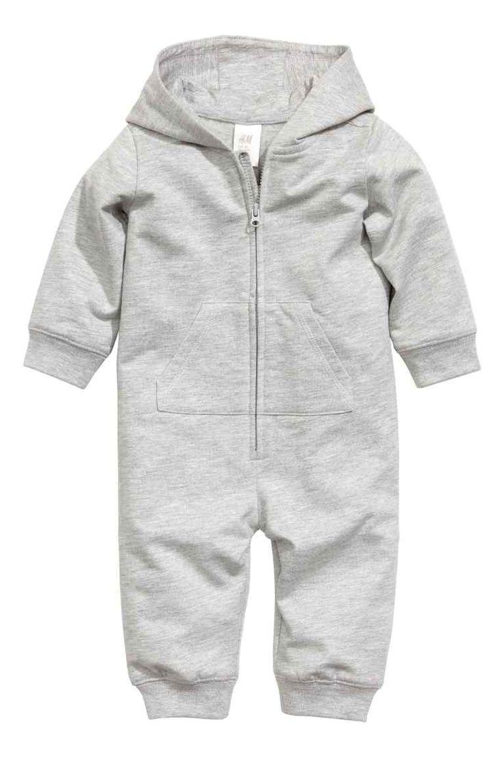 Sweatshirt all-in-one suit - Grey -   H&M GB 1