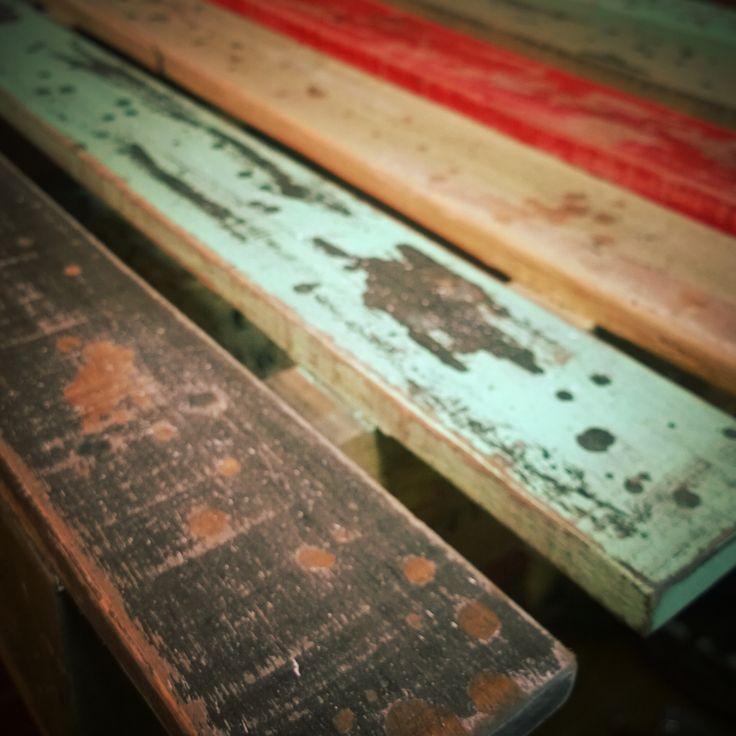 Reciclado de palets con patina a la cera