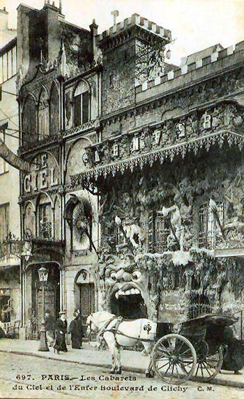 Le Café de L'Enfer, au 55 boulevard de Clichy, Montmartre, Paris. Voisin du café Le Paradis. Les deux n'existent plus.