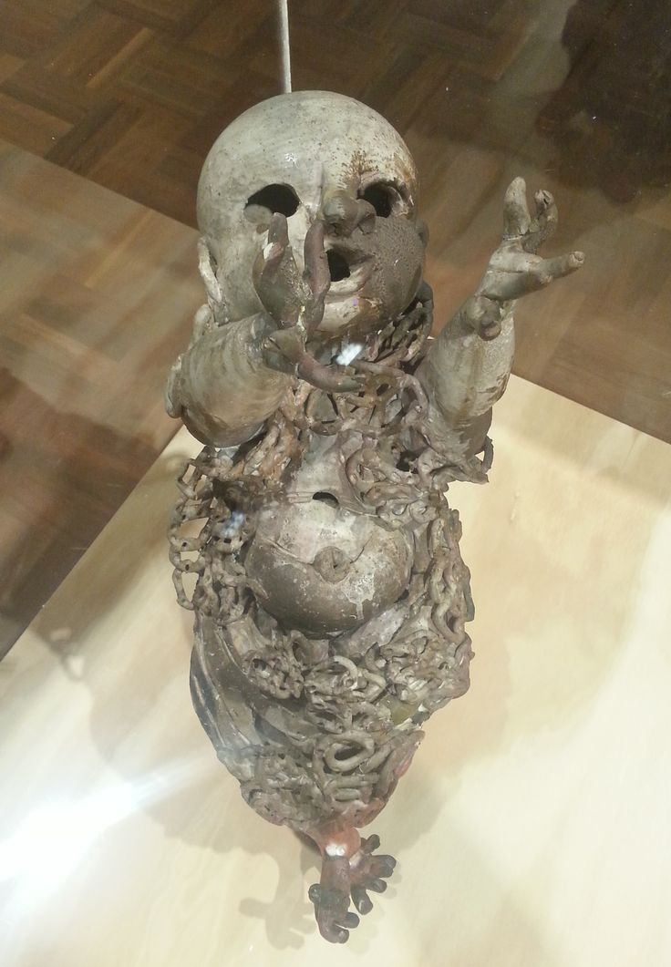John Perceval, Angel with arms raised, 1961, collection Shepparton Art Museum