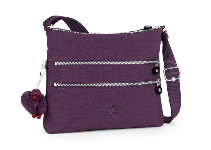 Kipling Alvar Basic Plus Schultertasche Dazz Purple