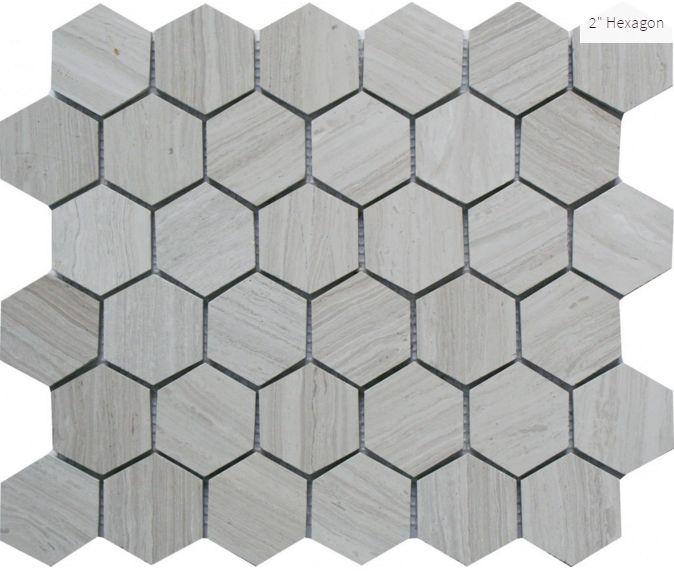 "Escarpment 2"" Hexagon #tile #mosaic #faberstoneandtile"