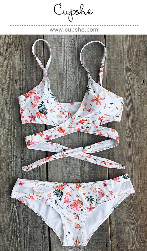 Hot beach style now comes in bright colors with the By My Side Cross Bikini Set. Floral printing offers a fresh look, while adjustable shoulder straps & high leg cut design offer a comfy fit. This super supportive bathing suit stands out on the shoreline.