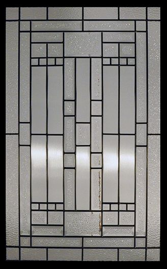 Stained Glass Door Inserts - Waterfall 22x36 Patina
