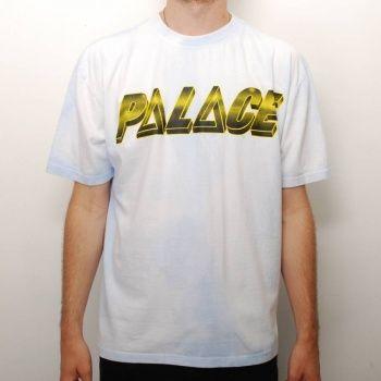 Palace Skateboards Palace Tri-Ferg Pyramids Hypercolour Skate T-Shirt - Pale Blue £32