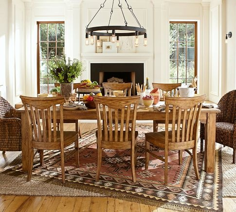 Dining Room Setup Solomon Extending Dining Table Pottery Barn Dining Roo