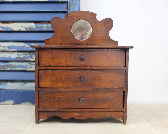 Antique Primitive Painted Child S Miniature Dresser: 461 Best Images About Doll House Furniture And Salesman's