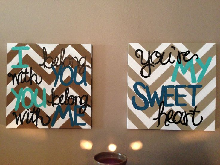 Lumineers quote DIY canvas