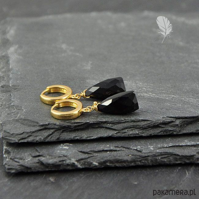 kolczyki - minerały-Classic black