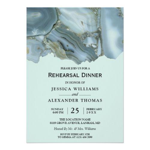 Classy Marble Rehearsal Dinner Invitation  Zazzlecom -8831