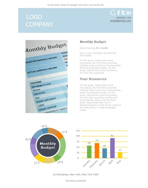 18 best Administración y Contabilidad - Plantillas Newsletter images ...