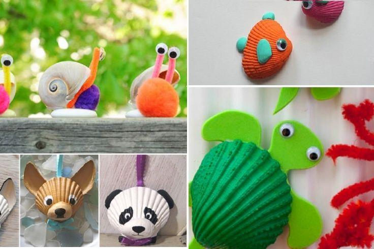 Les 25 meilleures id es concernant cr ations avec des coquillages sur pinterest artisanat de Bricolage printemps objets naturels idees