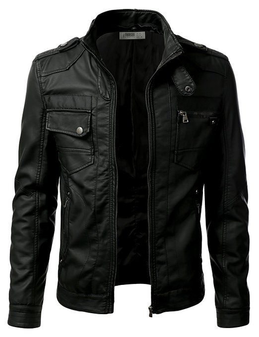 URBAN K Faux Leather Jacket. The detachable hood makes this jacket so versatile that, you can go from casual hang out to a date night in this trendy jacket.