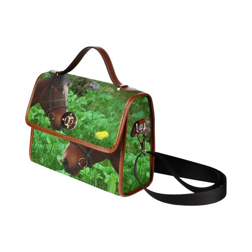 Horse and Grass Waterproof Canvas Bag/All Over Print. FREE Shipping. #artsadd #bags #horses