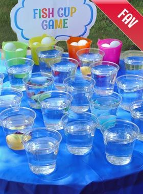 Click to See Almost Free Fish Cup Carnival Game                                                                                                                                                     More