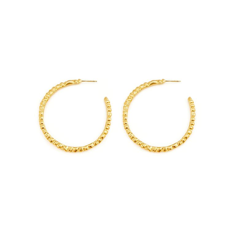 Ceto Hoop Earrings. Gold plated Silver. By Alexandra Dodds
