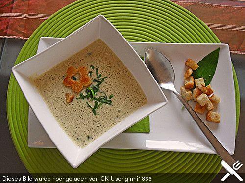 Bärlauch - Sahnesuppe mit Croutons, ein gutes Rezept aus der Kategorie Gebundene. Bewertungen: 58. Durchschnitt: Ø 4,7.